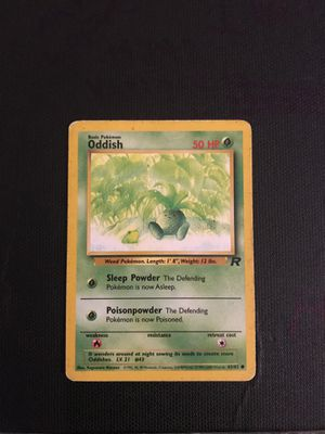 Pokemon Card Oddish 63/82 1st Edition Team Rocket for Sale in Pflugerville, TX