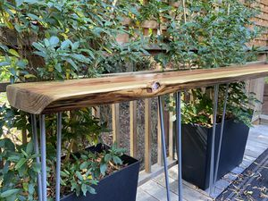 """Live Edge """"Floating"""" Console Table for Sale in Mill Valley, CA"""