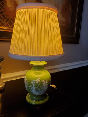 Vintage green glass table lamp for Sale in Round Rock, TX