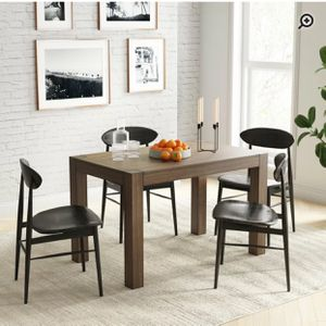Rustic Modern Rubberwood Dining Table/desk for Sale in Springfield, VA