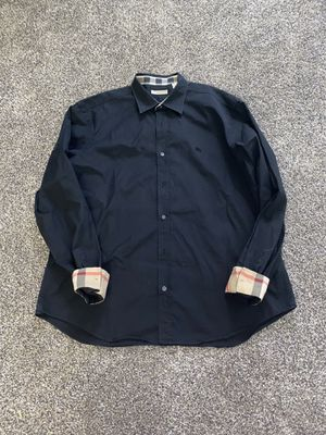 Burberry Brit men's 2XL black nova check shirt for Sale in Portland, OR