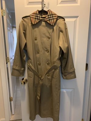 Vintage Burberry trench coat with rare lining for Sale in Hagerstown, MD
