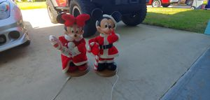 Electric 2 ft tall Mickey and Minnie mouse Christmas Disney for Sale in Largo, FL
