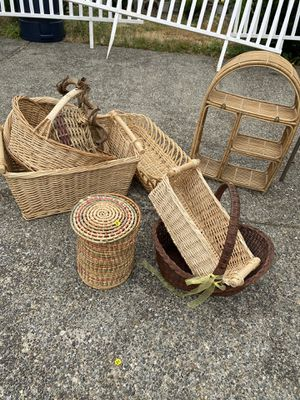 Assorted Wicker Baskets for Sale in Kent, WA