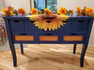Happy Sunflower Console Table for Sale in Sandy, OR