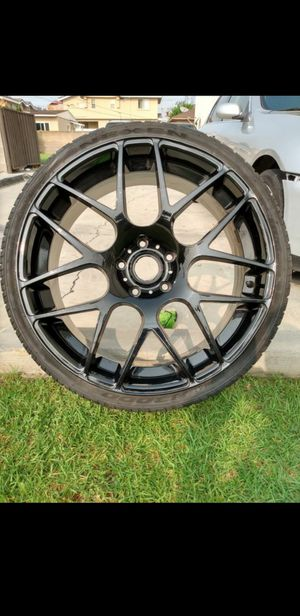 22 inch concave 5x5.5 dodge ram rims wheels rines llantas tires 5x139 trucks charger hellcat stye for Sale in Los Angeles, CA