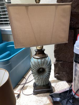 Brown and Teal Lamp! for Sale in Broken Arrow, OK