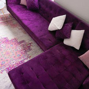 Convertible Sofa Sleeper Purple Velvet , Gold Legs for Sale in Renton, WA