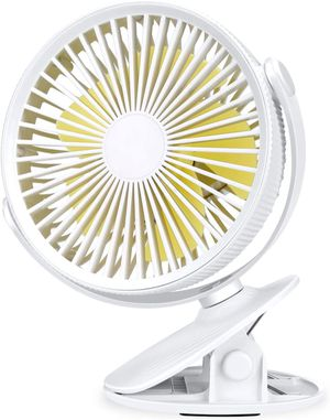 Aluan Clip On Fan Stroller Fan Rechargeable Battery Operated Portable Desk Fan Powerful 3 Speeds 360 Degree Rotatable Personal Fan for Baby Stroller for Sale in Cleveland, OH