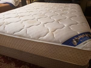 Queen Mattress box spring bed frame Serta Perfect Sleeper for Sale in Lynnwood, WA