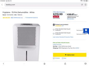 70 Pt Dehumidifier for Sale in Imperial, MO