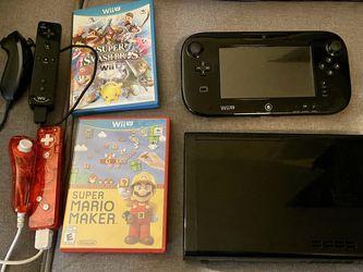 Nintendo Wii U with Gamepad, 2 Nunchucks, 3 Games for Sale in Los Angeles,  CA