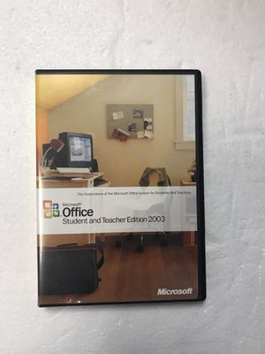 Microsoft office student and teacher edition 2003 for Sale in Portland, OR