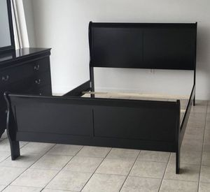 Black Sleigh Bed Frame - Brand New in Box for Sale in Wilmington, NC