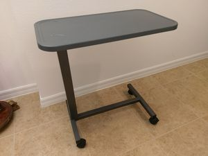 Breakfast and computer table all metal with rollers for Sale in Davenport, FL