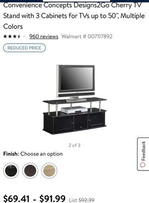 Black tv stand for Sale in Atlanta, GA