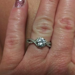 Solid 925 Silver Sapphire Ring for Sale in Russellville, KY