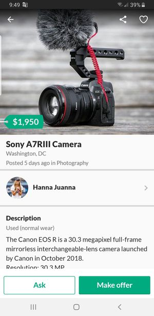 Dont buy from this scammer sony a7iii for Sale in Forest Heights, MD