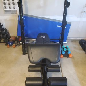 Adjustable Bench with preacher curl and leg extension attachments for Sale in Lacey, WA