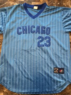 Ryne Sandberg Chicago Cubs Blue Pinstripe Cooperstown Collection Jersey L/XL for Sale in Carpentersville,  IL