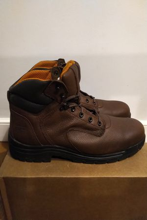 "TIMBERLAND PRO TITAN 6"" SAFETY TOE LEATHER WORK BOOTS 26063 15 M Men for Sale in Boston, MA"
