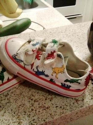 Toddler dino converse for Sale in Muscoy, CA