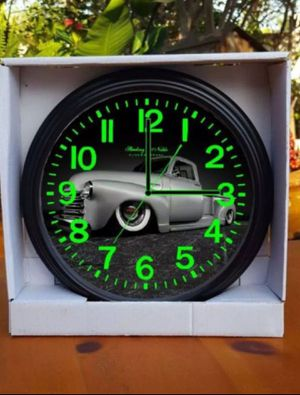 1949 50 51 52 Chevy Truck 1970 C10 CHEVY SHORTBED GLOW IN THE DARK WALL CLOCK 58 59 63 64 Impala, c10, Bel Air, Fleetline, Pick one! for Sale in Burbank, CA