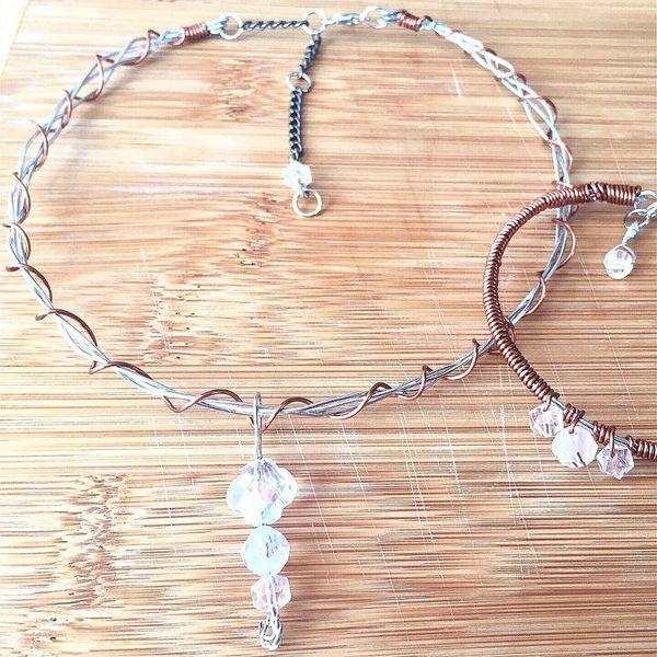 Unique Handmade Choker And Bracelet