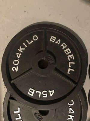 2-45lbs & 2-10lbs weights for Sale in Romulus, MI