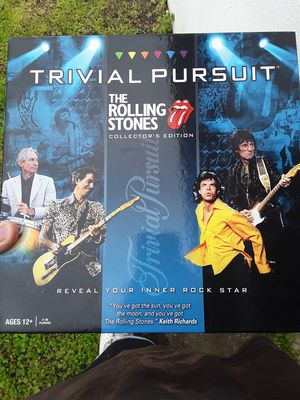 The Rolling Stones Trivial Pursuit Board Game for Sale in NORTH PRINCE GEORGE, VA