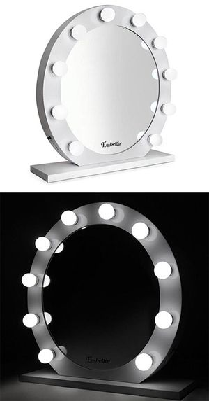 "Brand new $160 White 28"" Vanity Mirror w/ 10 Dimmable LED Light Bulbs, Hollywood Beauty Makeup USB Outlet for Sale in Santa Fe Springs, CA"