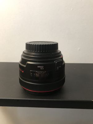 Canon EF red ring 1.2 f 50mm lens with UV filter for Sale in Boston, MA