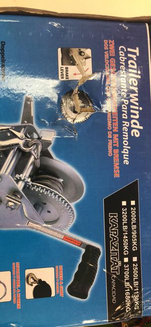 Boat Trailer parts - Marine 2 speed winch with strap - We carry all trailer parts - We carry all trailer parts, trailers axles, trailer tires for Sale in Plant City, FL