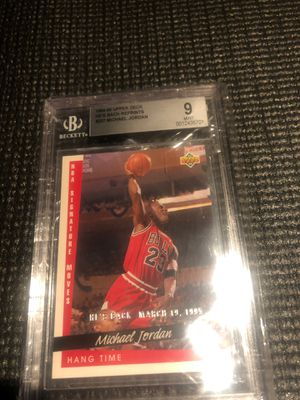 Michael Jordan 94/95 Upper Deck RP graded 9 for Sale in Manvel, TX