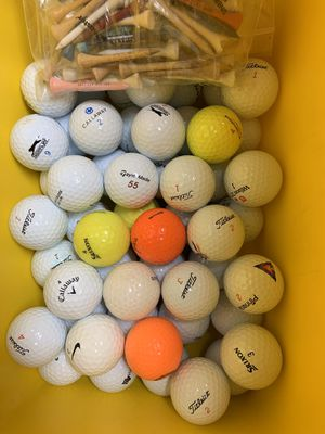 50 very good balls and tees for Sale in Sunbury, PA