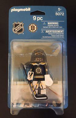 Boston Bruins NHL Hockey Playmobil 9 Pc Toy Action Figure Goalie - BRAND NEW! for Sale in Fair Oaks,  CA
