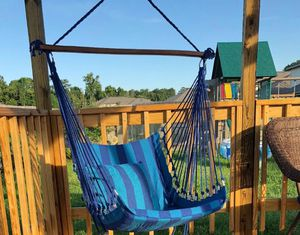 Hanging Hammock Chair Swing with Cushion Pillows for Comfortable Seating and Lounging on Deck, Patio, Porch, Garden, or Yard for Sale in Colorado Springs, CO