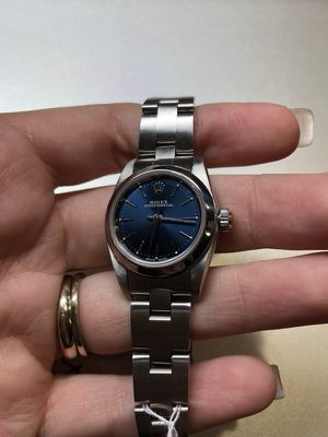 Rolex blue dial ladies oyster perpetual for Sale in Miami, FL