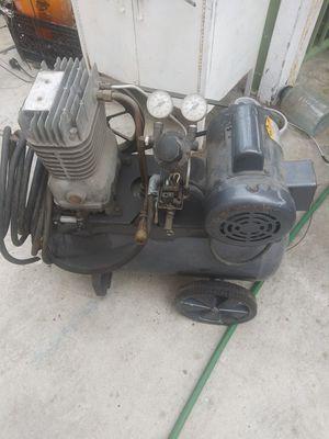 Air compressor devis biss. With motor baldor 1hp for Sale in Santa Ana, CA