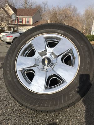 "Silverado LTZ 20"" Clad Wheels Factory Take Off Chrome for Sale in Manassas, VA"