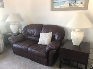 Very nice burgundy loveseat recliner for Sale in Edmonds, WA