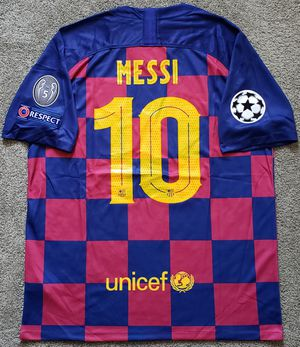 FC BARCELONA 19/20 UCL jersey camiseta remera MESSI 10 for Sale in La Habra Heights, CA