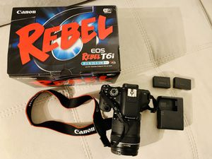 Canon Rebel T6i - Like new with box for Sale in Coral Gables, FL