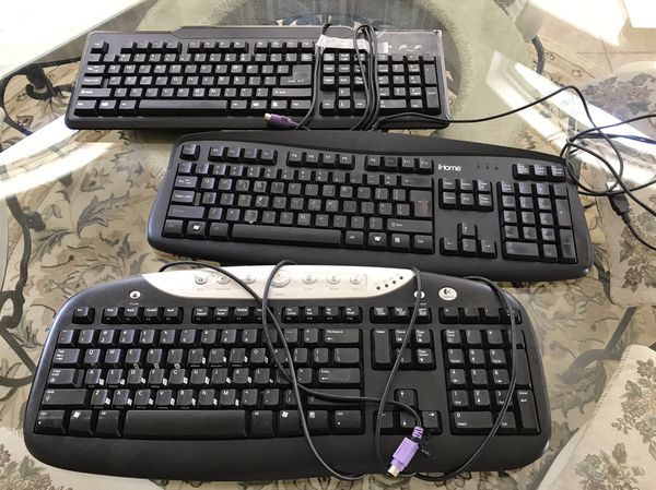 Keyboards and computer mouse (used)