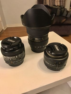 Nikon Lenses (28mm f2.8, 50mm F1.8, 12-24mm f4) for Sale in Los Angeles, CA