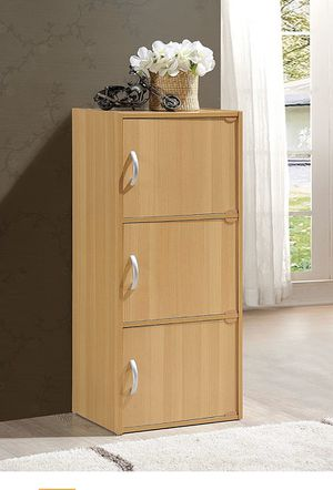 Wooden 3 Shelf Book Case Multi Purpose Storage Closet for Sale in Queens, NY
