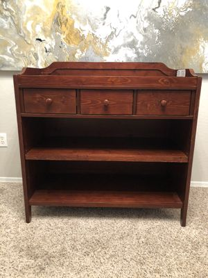 Gorgeous Pottery Barn Kids Solid wood Baby Changing Table dresser with 3 drawers and 2 adjustable shelves for Sale in Gilbert, AZ
