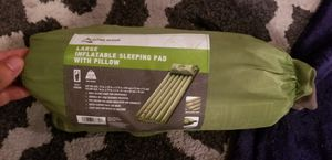 Inflatable mattress air with pillow hiking gear no broken back for Sale in West Covina, CA