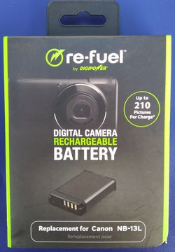 DigiPower Re-Fuel Camera Replacement Battery for Canon NB-13L Brand New for Sale in Los Angeles,  CA