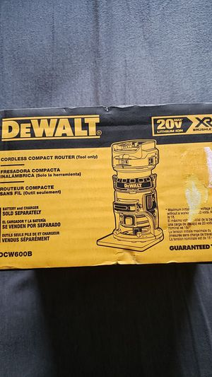 Dewalt 20v brushless xr router brand new unopened bare tool no battery no charger $100 FIRM NO OFFERS NO MENOS for Sale in Fresno, CA